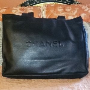 Chanel XL Timeless CC Lambskin Leather Black Tote